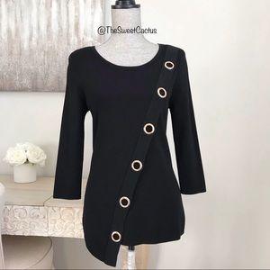 INC 3/4 Sleeve Asymmetrical Front Hem Sweater